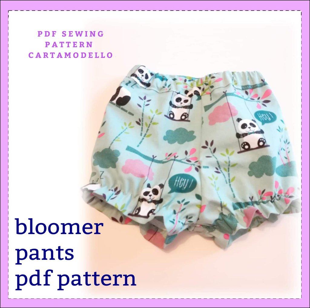 cartamodello pantaloncino neonato e bambina bloomer
