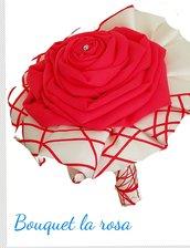 Bouquet raso rosso  idea regalo.