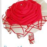 Bouquet mono fiore raso rosso