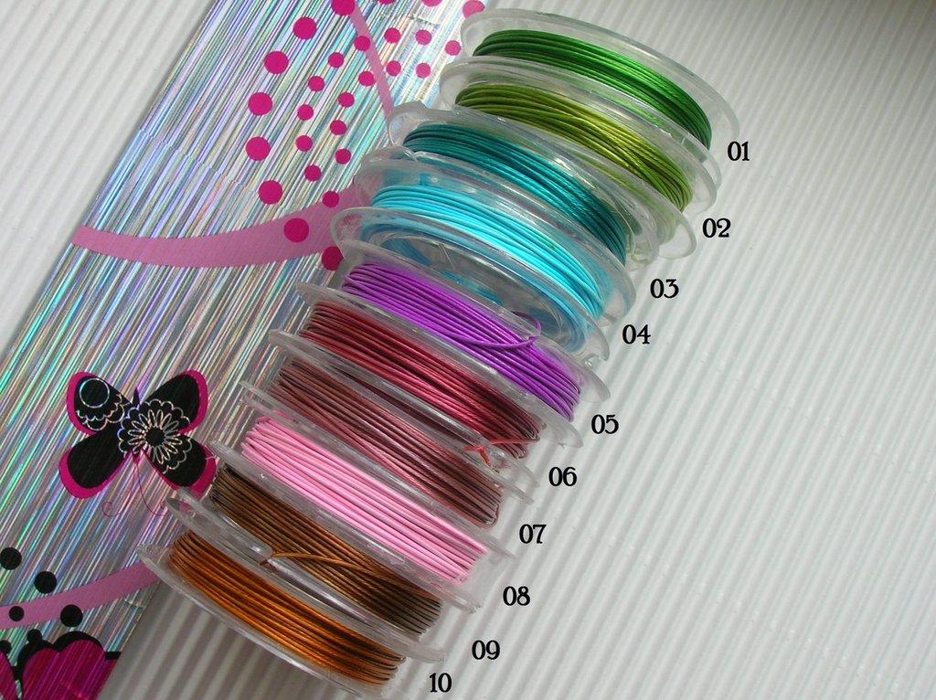 Filo metallico colorato plastificato