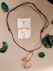 Collana girocollo pendente Farfalla