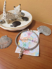 Bracciale argento con charm