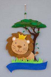 Mini fiocco nascita il re leone, tema safari, 36 x 23 cm