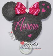 Carillon Topolino Minnie NOME DEDICA FLUORESCENTE PERSONALIZZABILE idea regalo nascita battesimo baby shower