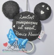 Carillon Topolino Minnie NOME DEDICA PERSONALIZZABILE idea regalo nascita battesimo baby shower