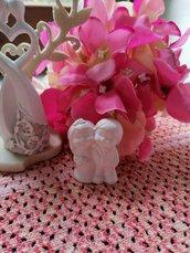Sposi - sposini  - coppia 3d si reggono in piedi  in gesso ceramico profumato per il fai da te