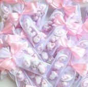 Sacchettino 5 confetti - sacchettino battesimo - sacchettino nascita - bomboniera battesimo - bomboniera nascita - sacchetto di confetti - confetti per battesimo - confetti per nascita