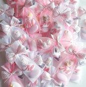 Sacchettino 2 confetti decorati - sacchettino battesimo - sacchettino nascota