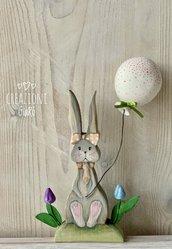 Coniglietta in legno massello