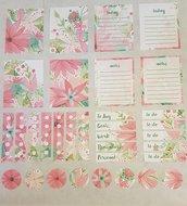 Stickers pronti all'uso con fiori delicati