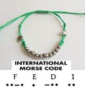 BRACCIALE PERSONALIZZATO NOME Codice Morse