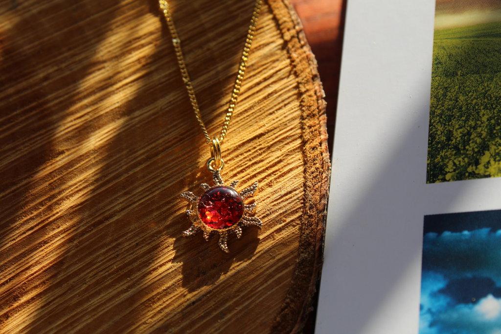 collana sole Rosso