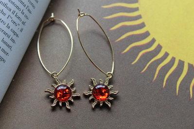 orecchini sole rosso