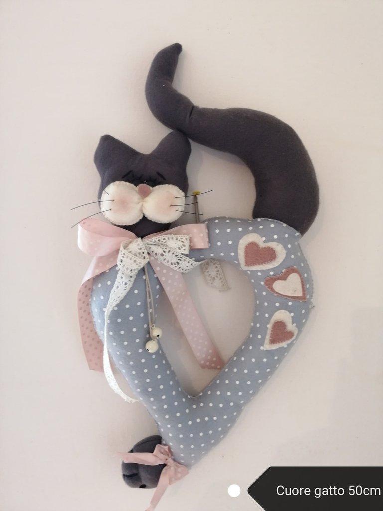 Fuoriporta gatto cuore