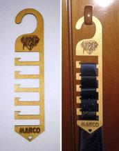 """Portacravatte in legno personalizzato """"Festa del Papà"""" - taglio laser"""