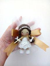Bomboniera prima comunione bimba bambolina Anna amigurumi.