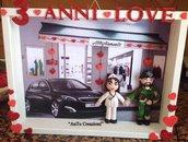 quadretto san valentino personalizzato