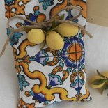 Sacchetto portaconfetti cm 9 x 12  maioliche Capri