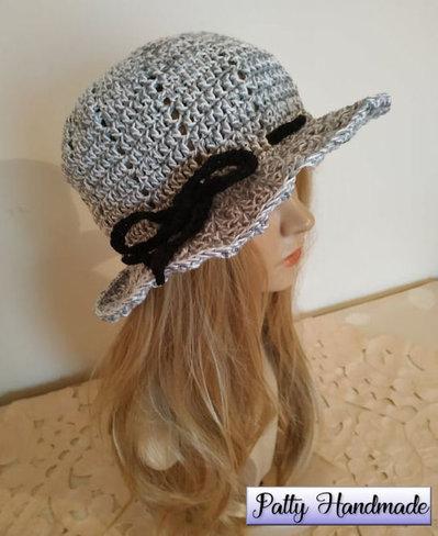 Cappello estivo donna realizzato ad uncinetto