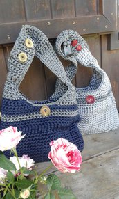 borsa fettuccia cotone lycra crochet handmade Italy Business