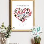 Regalo festa della Mamma - Idea regalo per la Mamma - Quadro personalizzato con cuori per la Mamma - Quadretto Mamma con fotografie