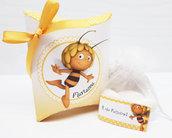 Bomboniera scatolina personalizzata ape maia battesimo compleanno nascita completa di tutto
