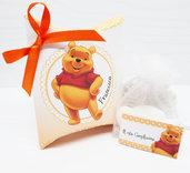 Bomboniera scatolina personalizzata winnie the pooh battesimo compleanno nascita completa di tutto