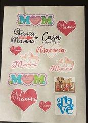 Stickers pronti all'uso festa della mamma