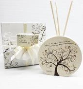 Bomboniera profumatore albero della vita comunione cresima battesimo matrimonio laurea personalizzata
