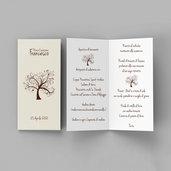 Menù albero della vita comunione cresima battesimo matrimonio laurea personalizzato