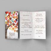 Menù albero della vita cuori comunione cresima battesimo matrimonio laurea personalizzato