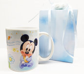 Bomboniera tazza topolino battesimo nascita compleanno personalizzato