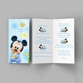 Menù topolino battesimo nascita compleanno personalizzato