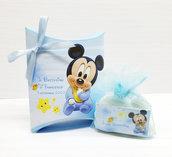 Bomboniera scatolina personalizzata topolino battesimo nascita compleanno personalizzato completa di tutto