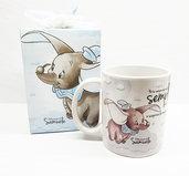 Bomboniera tazza dumbo elefantino battesimo compleanno nascita personalizzata