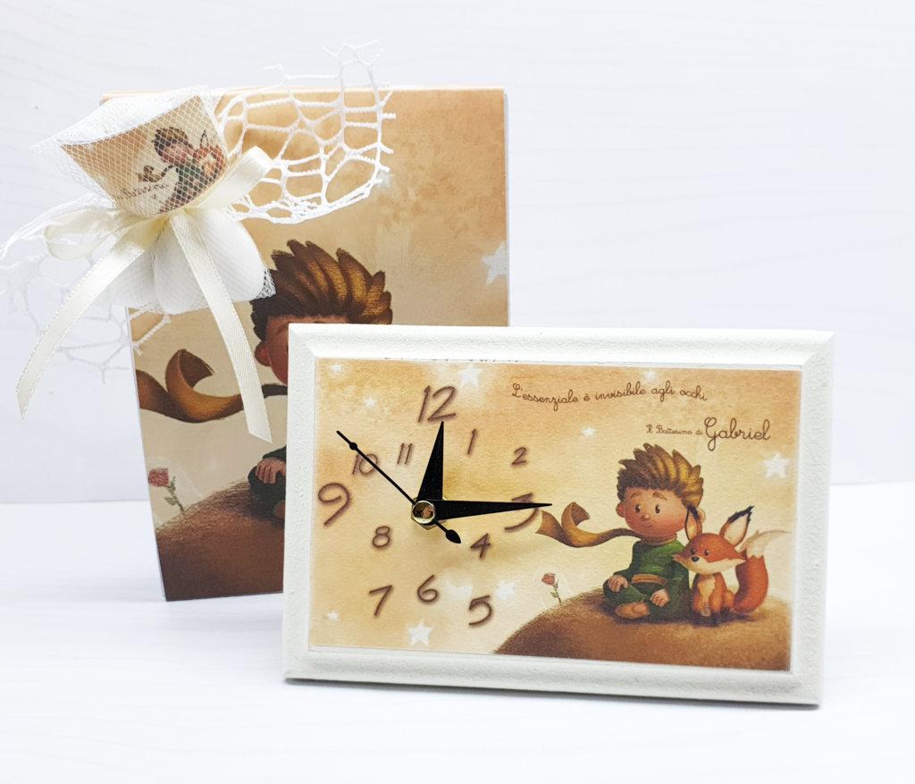 Bomboniera battesimo piccolo principe OROLOGIO comunione personalizzato