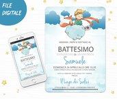 Invito digitale Piccolo principe comunione cresima battesimo compleanno nascita personalizzato