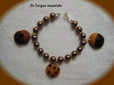 "Bracciale ""Biscuits"" in fimo"