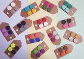 2 paia orecchini borchiette bottoncini bottoni fimo rotondo pasta polimerica scegli tu il colore!!!