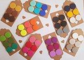 3 paia orecchini borchiette bottoncini bottoni fimo rotondo pasta polimerica scegli tu il colore!!!