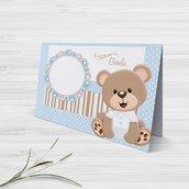 segnaposto orsetto battesimo nascita compleanno personalizzato - Set 50 pezzi