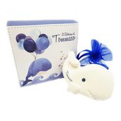 Bomboniera calamita personalizzata balena palloncini battesimo nascita compleanno personalizzata scatolina completa di tutto