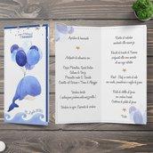 Menù balena palloncini battesimo nascita compleanno personalizzato