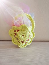 Bomboniera borsetta a fiore con manico