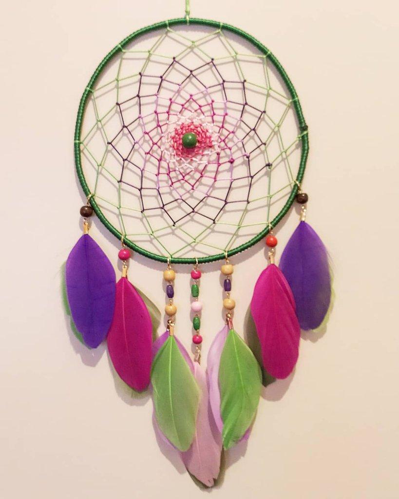 Chicieve fatto a mano grande acchiappasogni per bambini acchiappasogni con piume colorate a tema per feste e matrimoni ottimo regalo per bambini