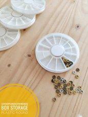 Scatola contenitore per raccogliere strass piccoli charm e minuteria 1 pcs 82x10mm