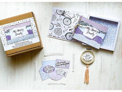 Kit creativo fai da te artigianale Album di famiglia/ Album di ricordi _ Happy Box_ My Happy Family_ SPECIAL EDITION con acchiappasogni