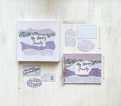 Kit creativo fai da te artigianale Album di famiglia/ Album di ricordi _ Happy Box_ My Happy Family_
