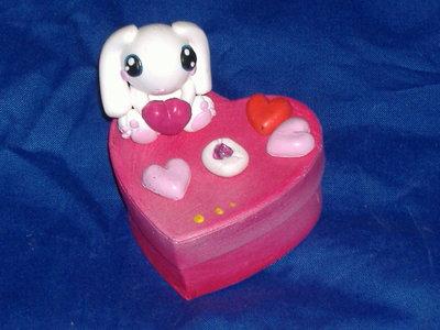 scatolina cuore e coniglio
