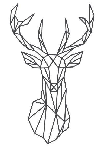 Inserzione personalizzata su richiesta di un cliente adesivo cervo